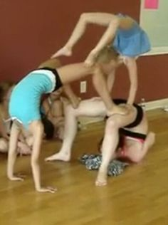 This is fun to do with your friends, of course I was the girl on the bottom~ Claire