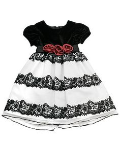 Rare Editions Kids Dress, Little Girls Floral Flocked Dress - Kids Girls 2-6X - Macy's