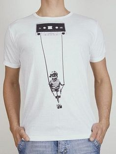Cassette T-Shirt - Mens: Cotton