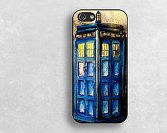 3D police box  iphone  caseiphone 5s hard soft by janicejing, $8.99