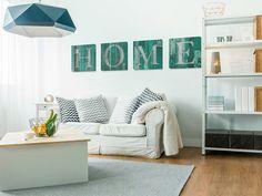 Obraz na płótnie - HOME - turkusowy - 4 części w VAKU-DSGN na DaWanda.com