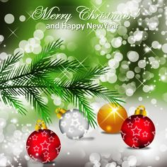Merry Christmas Happy New Year 2015 HD Wallpaper