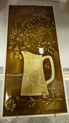 Arabia Atelje taidereliefi,   Gunvor Olin-Grönqvist !!!  44,5cm x 21cm.   Hyväkuntoinen, signeerattu !!!  Arvioitu lähtöhinta: 100.00 € Auction Items, Design