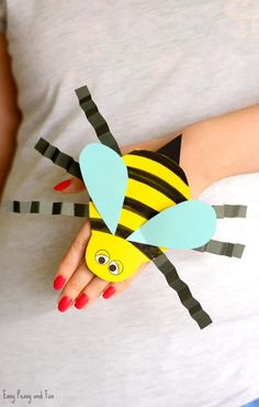 Bee Paper Hand Puppet Template Craft for Kids