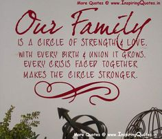 Love Family Sayings, Quotes, Inspirational Sayings about Family ...