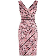 Phase Eight Elenor Print Dress, Multi/Pink ($84) ❤ liked on Polyvore featuring dresses, vestidos, pink maxi dress, floral print dress, pink summer dresses, summer maxi dresses and long-sleeve midi dresses