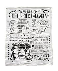 Fluffy Pancake Recipe Linen Towel
