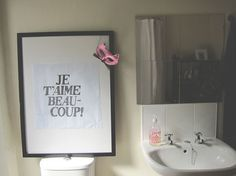 Tips for decorating on the cheap: Ikea frames + french sayings