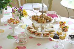 Glorious Treats: Tea Parties  sandwich recipes--Wendy Schultz via Mary Little onto Party Ideas -.(Kids & Adults)
