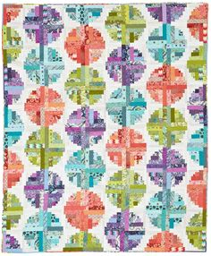 Log Cabin Beads Quilting Pattern from the Editors of American Patchwork & Quilting