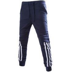2016 Hot Selling Men Trend Jogger Harem Pants White border Decoration Lace-up Loose Casual Style Pants Men Clothing