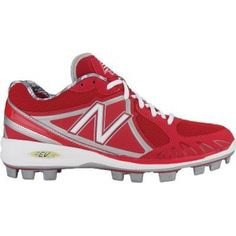 Mens New Balance MB2000 Baseball Cleats Red Mesh - ONLY $74.99