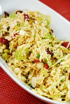 Oriental Cabbage and Cranberry Salad - 2 Smartpoints | Weight Watchers Recipes