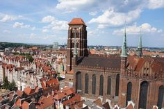 Gdansk - View over the Cathedral from the old Town Hall