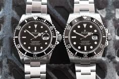 We weigh up the merits of two recent editions of Rolex's most popular watch. Discover which Rolex Submariner with Xupes today. Rolex 16610, Rolex Submariner 16610, Rolex Watches, James Bond Style, Most Popular Watches, Pre Owned Watches, Luxury Watches, Omega Watch, Mens Fashion
