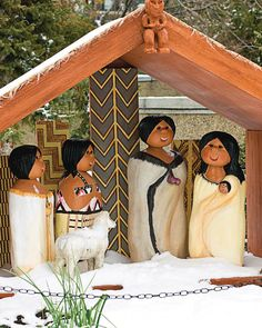 A Maori Nativity... Salt Lake City? Someone's stolen the kiwi out of this one!