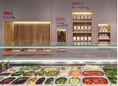 Restaurant Not Guilty / Ippolito Fleitz Group Cafe Restaurant, Organic Restaurant, Restaurant Design, Restaurant Ideas, Modern Restaurant, Self Service, Salad Bar Restaurants, Salad Box, Bo Bun