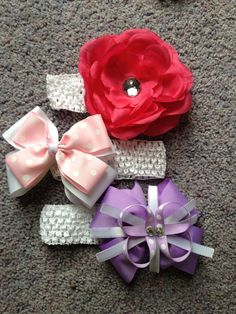 DIY hair bows!