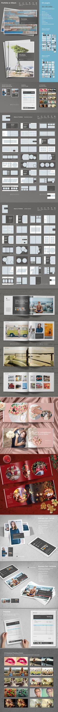 Portfolio or Album — InDesign INDD #corporate #portfolio template • Download ➝ https://graphicriver.net/item/portfolio-or-album/19411874?ref=pxcr