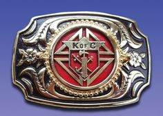 No. 296-GR - KofC Belt Buckle (Made in U.S.A.)   (NEW) K of C Belt Buckle     Retail: $59.95 On Sale: $35.00 You Save: 42%
