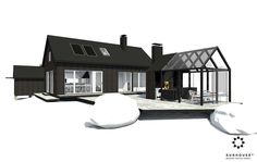 Black House Exterior, Modern Barn, Forest House, Metal Homes, Architect Design, House Plans, Interior Decorating, New Homes, House Design