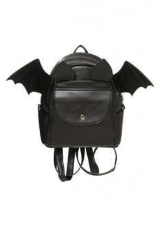 BANNED Gothic Bat Wings Faux Leather Backpack School Bag Rucksack Waterproof for sale online Faux Leather Backpack, Black Backpack, Backpack Bags, Mini Backpack, Leather Backpacks, Duffle Bags, Messenger Bags, Leather Bags, Leather Shoes
