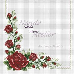 This Pin was discovered by Zey Cross Stitch Needles, Cross Stitch Rose, Cross Stitch Borders, Cross Stitch Flowers, Cross Stitch Designs, Cross Stitching, Cross Stitch Embroidery, Cross Stitch Patterns, Cross Stitch Beginner