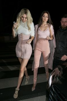 Kendall Jenner and Gigi Hadid. Balmain After-Party, Paris - March 3 2016