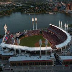 It doesn't get much better than this! The Cincinnati Reds baseball stadium is beautiful!