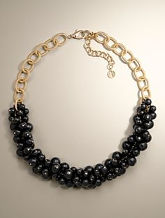 Talbots - Bead Cluster Necklace   Necklaces  