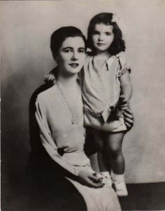 young jacqueline kennedy | with mom Janet Lee Norton Bouvier Auchincloss Morris.