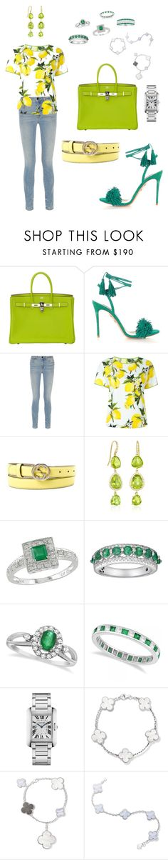 """""""Basic and Chic"""" by bmcrazy ❤ liked on Polyvore featuring Hermès, Aquazzura, Alexander Wang, Dolce&Gabbana, Gucci, Lauren K, Ice, Allurez, Cartier and Van Cleef & Arpels"""