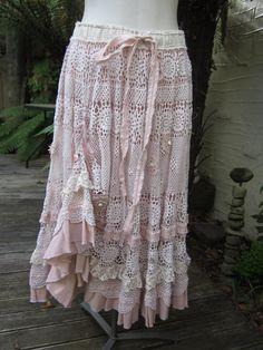 Vintage crochet skirt.