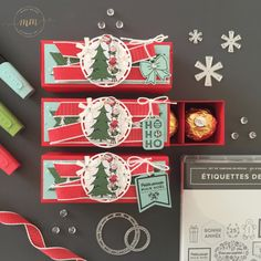 Christmas Gifts Box Ideas – Stampin' Up! signs of Santa candy gift box Candy Gift Box, Paper Gift Box, Candy Gifts, Paper Gifts, Christmas Bazaar Crafts, Christmas Labels, Christmas Gift Box, Homemade Gift Boxes, Stampin Up
