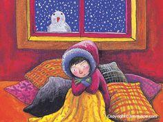 Tarjetas de Navidad de Jimmy Liao Taipei Taiwan, Illustrations, Les Oeuvres, Snowman, Little Girls, Disney Characters, Fictional Characters, Snow White, Disney Princess