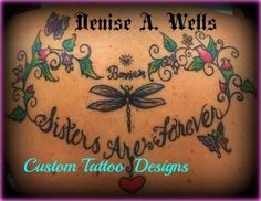 https://flic.kr/p/yh9pby | Sisters heart tattoo design Denise A. Wells | Sisters heart shaped memorial tattoo design by Denise A. Wells