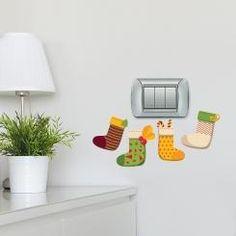 Calze della Befana Colorful Socks Adesivo per interruttore, spina, placca - Light Switch Sticker