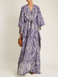 Click here to buy Mary Katrantzou Asso Cards-jacquard kaftan dress at MATCHESFASHION.COM