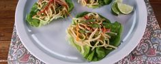 Asian noodle salad lettuce cups is the ultimate healthy dish to serve up your family!