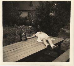 Weird vintage photos - horsemaning