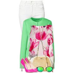 ~ 💕 White Jeans for Spring 💕 ~ by pretty-fashion-designs on Polyvore featuring polyvore, fashion, style, Armani Jeans, Lands' End, Mother, Jimmy Choo, Jessica Simpson, RetroSuperFuture and clothing