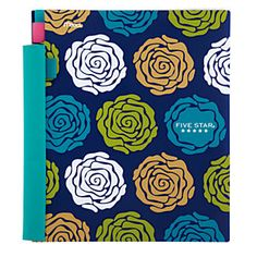 """Five Star® Advance® Notebook, 8 1/2"""" x 11"""", 2 Subjects, College Ruled, 120 Sheets, Trendy Design"""