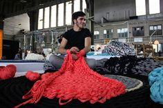 Andrea Brena, designer {diy tricoter sans aiguilles}