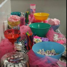 Candy bar at my girls zebra themed birthday party