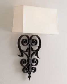 Aged-Iron Wall Sconce at Horchow.