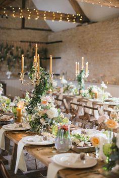 wedding tablescapes - photo by Hayley Savage Photography http://ruffledblog.com/intimate-quintessentially-british-wedding