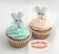 bunny cupcake toppers Bunny Cupcakes, Felt Cupcakes, Cupcake Decorations, Vintage Easter, Shabby Vintage, Cute Bunny, Cupcake Toppers, Happy Easter, Holiday Ideas