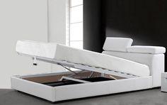 LETTI MATRIMONIALI LETTO CONTENITORE MATRIMONIALE IN ECOPELLE MODERNO - C&G Home design