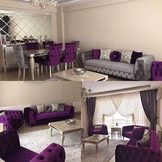 Trendy bedroom grey purple kitchens ideas Genç Odası – home accessories Living Room Decor Cozy, Living Room Grey, Living Room Sofa, Home And Living, Home Decor Furniture, Home Decor Bedroom, Purple Furniture, Sofa Design, Interior Design