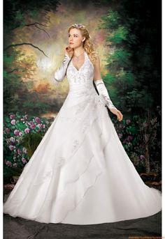 Romantisch Brautkleider 2014  für Prinzessin aus Organza mit Stickerei